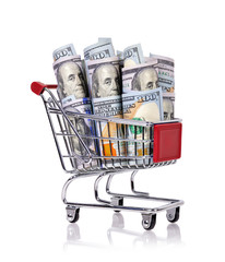 trolley with dollar
