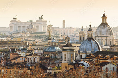 Panorama of old town in Rome, Italy