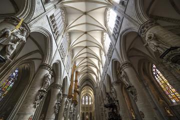 Cathedral Saints-Michel-et-Gudule in Brussels, Belgium