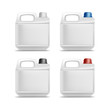 Set of Blank Plastic Jerrycan Canister Gallon Oil - 76271549