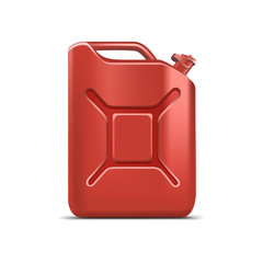 Blank Red Jerrycan Canister Gallon Oil Cleanser