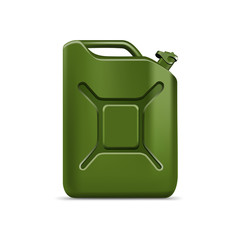 Blank Green Jerrycan Canister Gallon Oil Cleanser