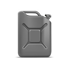 Blank Gray Jerrycan Canister Gallon Oil Cleanser