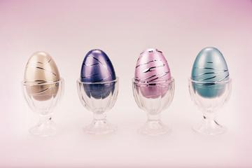 Decorative Easter Eggs in a Row - Retro