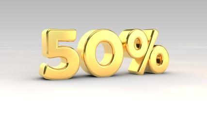 50% gold