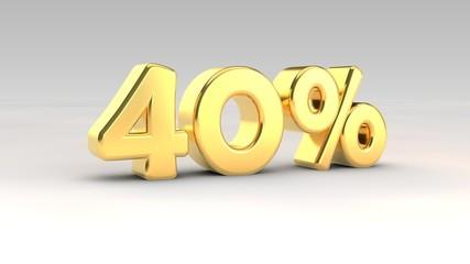 40% gold