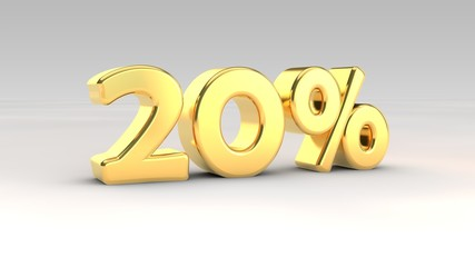 20% gold