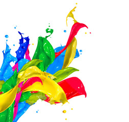 colored splashed paint
