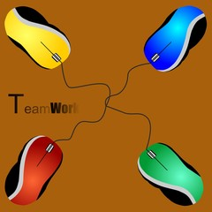 mouses team work
