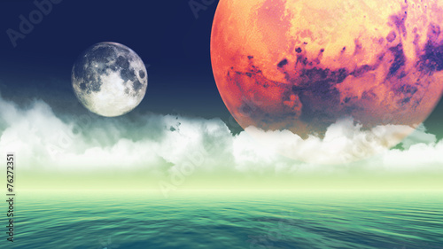 Abstract planets background