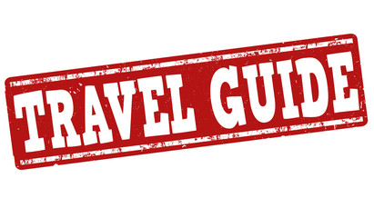 Travel guide stamp