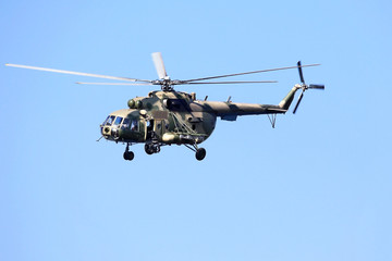 Transport helicopter.