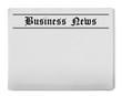 Leinwandbild Motiv Business news newspaper