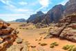 Mountains of Wadi Rum desert