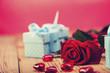Obrazy na płótnie, fototapety, zdjęcia, fotoobrazy drukowane : Valentine's Day, the day of lovers! Gifts and passionate red