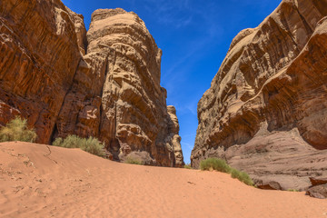 Rock Formation in Wadi Rum desert