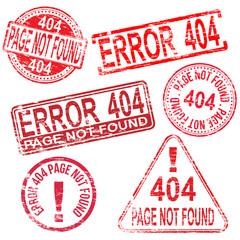 404 Error Stamps
