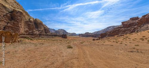 Foto op Canvas Zandwoestijn Wadi Rum desert in Jordan