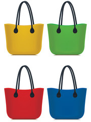 Bags set isolated. Vector illustration