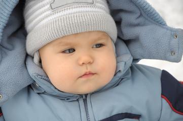 Baby portrait in winter