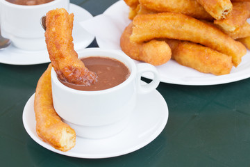 traditional spanish pastry - churros