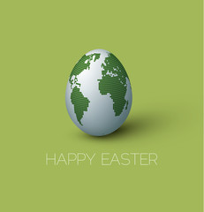 Simple vector Happy Easter card