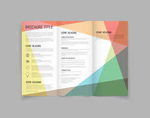 Modern Vector three fold brochure design template
