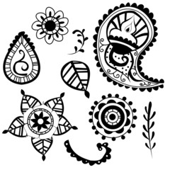 Indian decorative pattern elements vector