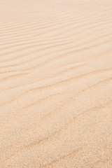 Waves on sand dunes  in Chaves beach Praia de Chaves in Boavist