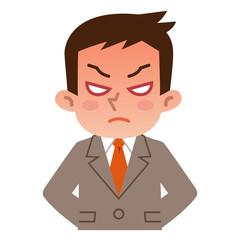怒っている若いビジネスマン