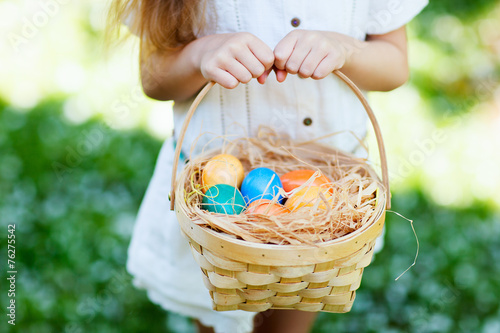 canvas print picture Colorful Easter eggs
