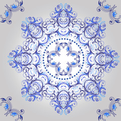 Ornamental round floral pattern. mandala.