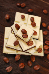 black and white coffee chocolate bar