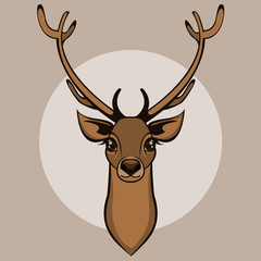 Deer head isolated. Vector illustration