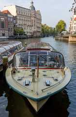 Canal Tour Boat in Amsterdam