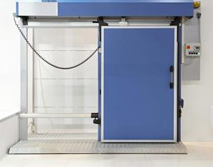 Industrial fridge door