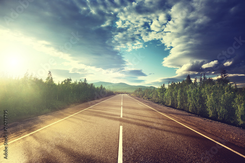 canvas print picture road in mountains