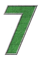 yeşil renkli 7 sayısı