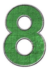 yeşil renkli 8 sayısı