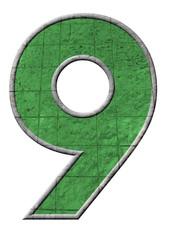 yeşil renkli 9 sayısı
