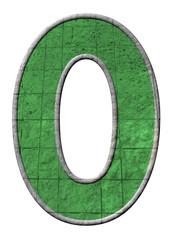 yeşil renkli 0 sayısı