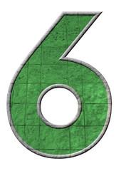 yeşil renkli 6 sayısı