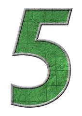 yeşil renkli 5 sayısı