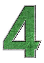 yeşil renkli 4 sayısı