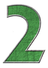 yeşil renkli 2 sayısı