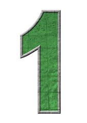 yeşil renkli 1 sayısı
