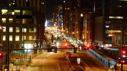 Time lapse of the buzz and vitality of a city at night
