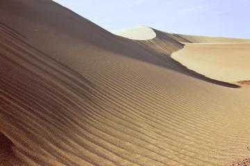 Riserva di Paracas, il deserto in Perù. Lavoro del vento