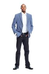 Stylish African-American businessman