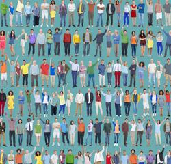 People Diversity Success Celebration Happiness Community Concept